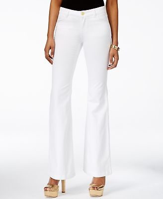 Michael Kors NEW White Womens Size 10 High-Rise Selma Flare Jeans $135- 329