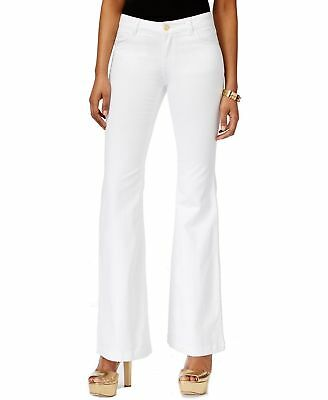 Michael Kors NEW White Womens Size 10 High-Rise Selma Flare Jeans $135 349