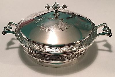 Meriden Britannia Silverplate Aesthetic Movement Covered Serving Tureen 1869