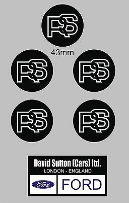 FORD ESCORT Mk1 & Mk2 RS2000, Mexico, Wheel center Decals, Stickers RS