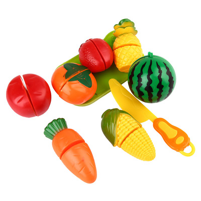 1 Set Kids Pretend Game Role Play Cooking Fruit Vegetable Food Toys Cutting