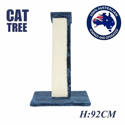 Cat Scratching Post Tree Scratcher Pole Gym Sisal House Furniture Tall 92CM DS