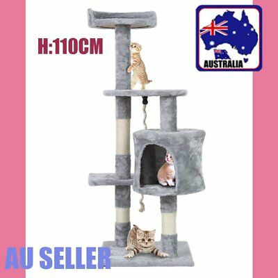 1.1M Cat Scratching Post Tree Gym House Condo Furniture Scratcher Pole AUS