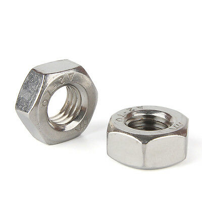 304 Stainless Steel Size M8 - M24 Thin Hex Nuts Left Hand Fine Thread #Q3068 ZX