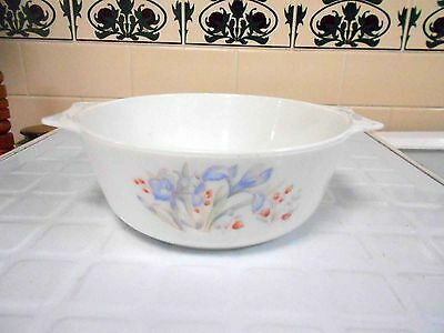 Vintage Pyrex, Milk Glass Pyrex England 'Iris' Casserole perfect condition