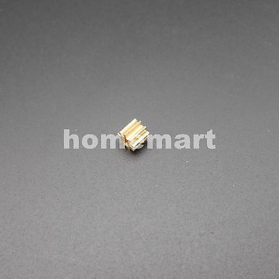 1PC Brass Gear 0.5Modulus 9 Teeth Aperture 2mm (1.95MM) DIY Model Accessories 9T