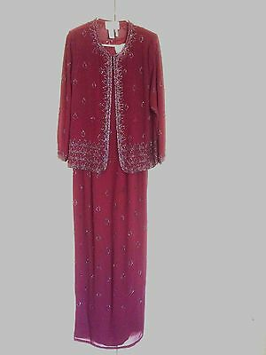 Aspeed  Formal Dress Mother of the Bride/Groom Hand Beaded 2 Piece  Size  Med