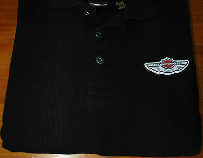 Genuine Harley-Davidson 100th Anniversary black polo shirt - new without tags