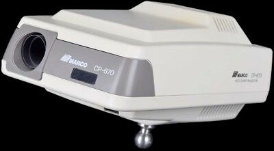 Marco CP-670 Medical Optometry Acuity Auto Eye Chart Projector NO REMOTE