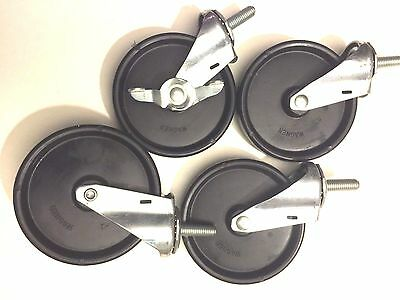 "5"" Square Stem swivel Casters  zinc plated (Set of 4)  (H-5)"