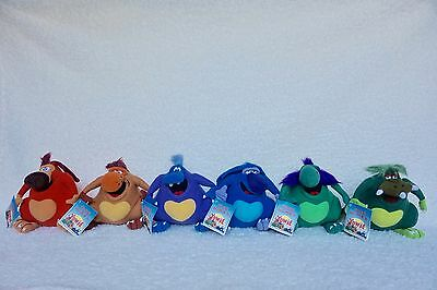 Brand New With Tags Limited Edition Yowie Plush Toys 6Pc Collection | In Plastic
