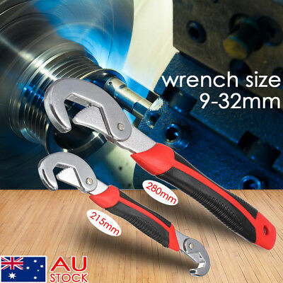2Pcs Multi-function Universal Snap'N Grip Adjustable Quick Wrench Spanner Tool