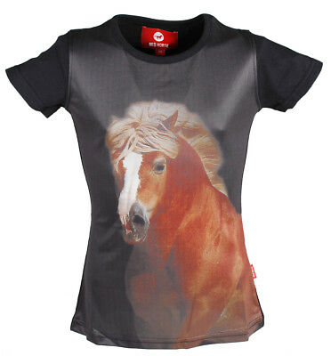 RED HORSE Childrens Glossy Riding T-Shirt - 'Horsy'