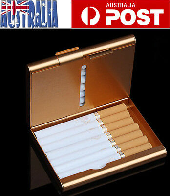 Pocket Cigarette Case Tobacco Cigar Storage Box Holder Container Golden Xmas