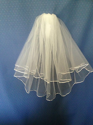 Shoulder length Bridal Veil, Available in a wide selection of colours. Handmade