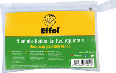 Effol Non-Snap Plaiting Bands - Colourless x 400 Pack - Showing