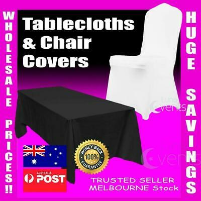 Wedding Table Cloths Market White Round Square Tablecloths Full Chair Seat Cover
