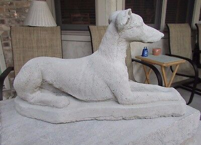 Solid Concrete Greyhound Statue / Memorial / Grave Marker
