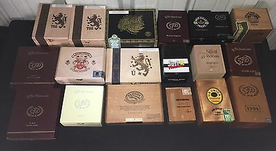 Empty Cigar Boxes!! Large Lot of 19 Assorted! M10