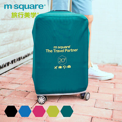 "M SQUAURE Travel Accessory Light 4 color 20"" protective suitcase cover pink"