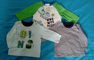 Pack of 3 Dino themed tshirts 0-3