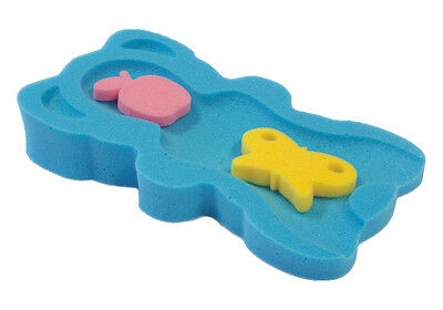 Blue Baby Bath Support Foam - Sponge MIDI + 2 sponge toys