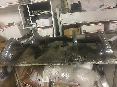 1975 1976 Cadillac Eldorado Front Bumper Section W Guards And Brackets