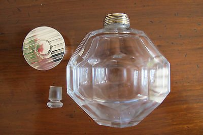 Antique Hallmarked Sterling Silver Topped Perfume Bottle - Birmingham - 1912