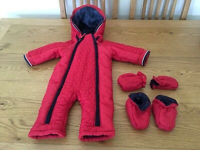 Mothercare Snowsuit With Detachable Mittens And Booties, 6-9 Months