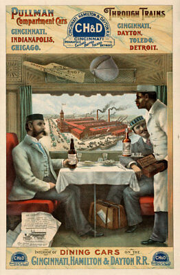 Pullman vintage train travel poster repro 24x36