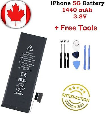 Brand NEW iPhone 5 5G Replacement Battery APN 616-0613 1440mAh With Repair Tools