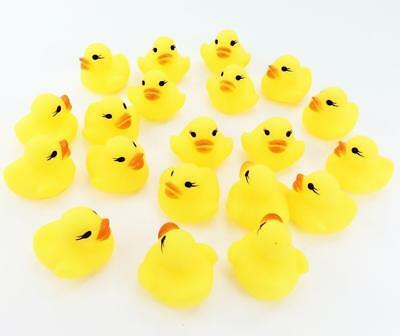 20pcs Mini Yellow Rubber Bath Ducks for Child Rubber Duck Toy Baby Shower Small