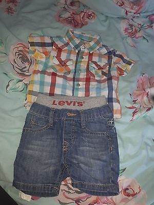 baby levi shirt and jeans 3-6month