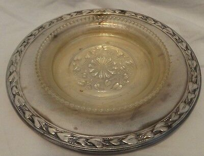 Meadowbrook Wm. A. Rogers Silverplate Leaf Heart Engraving Tray With Insert