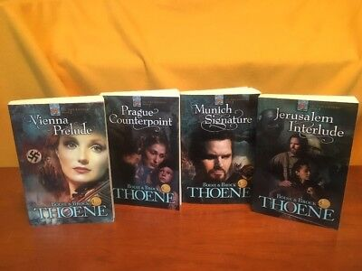 LOT OF FOUR THE ZION CHRONICLES SERIES by BODIE THOENE 1-4 Softcover
