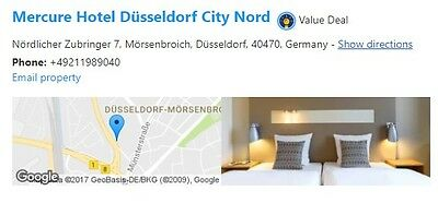 Hotel Reservation Mercure Hotel Dusseldorf City Nord 2 nights 2018