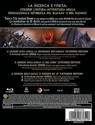 Il Signore degli Anelli Trilogy Blu ray extended edition 6 Blu-ray + 9 DVD