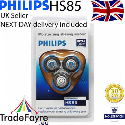 Genuine Philips Hs85 Coolskin Shaver/razor Head Set ~ Uk Stock