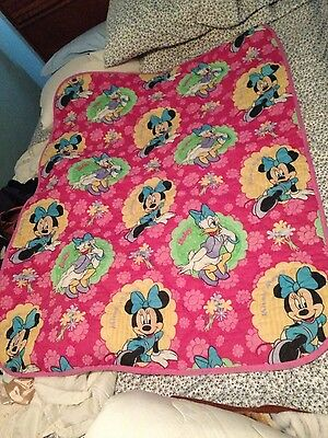 Minnie mouse Daisy 40x54 baby quilt girls