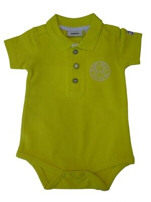 Mexx Boys Baby Body Suit with Collar Viridian Green sz. 56 - 68