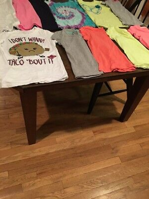 11 Girls Size 7 T Shirts Lot Number 2
