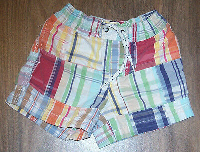 Baby Gap Swim Trunks Boys size 12-18 months Swimsuit Plaid