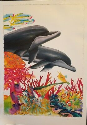 """Wyland and Taylor """"Sea of Color"""" Lithograph Signed limited edition 454/750"""