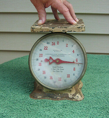 Vintage 25 Lb  Metal Scale - Patented October 29Th 1912  Joseph Davidson Nyc