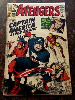 Avengers #4 1st Silver Age Captain America March 1964