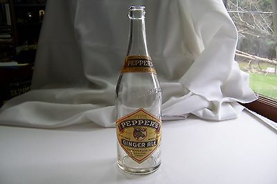 Vintage Peppers Ginger Ale Bottle Ashland Pennsylvania Wm. Pepper & Co Inc