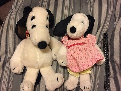 Snoopy And Belle Plush 1968 Peanuts Stuff Animal