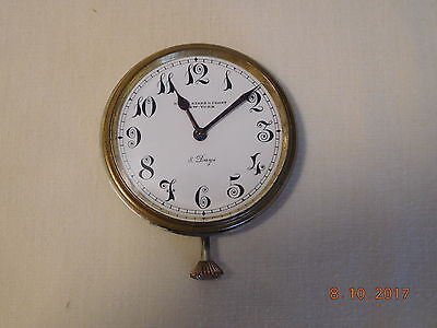 Vintage Black Starr & Frost 8 Day Travel Auto Clock Swiss Movement 15 Jewels Wor