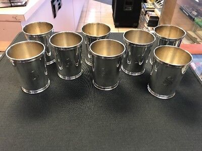 Benjamin Trees Sterling Silver Julep Cups Set Of 8