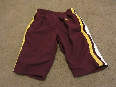 NIKE Infant Maroon Lined Athletic Workout Striped Pants Size 3/6M